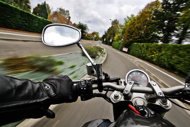 Motorka na cestě