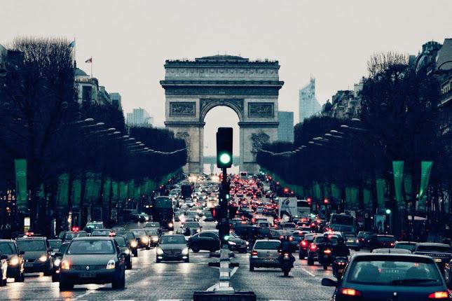 Dopravní zácpa v Paříži