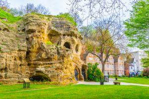 Caves under the nottingham castle