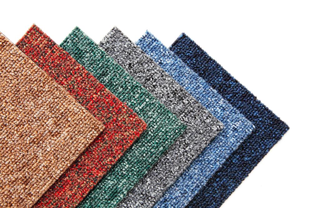 colorful samples of carpet tiles