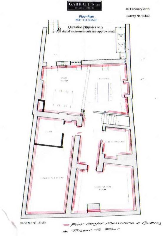 Floor Plan for Basement Membrane Tanking