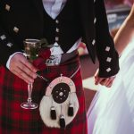 Beautiful Scottish couple groom and bride