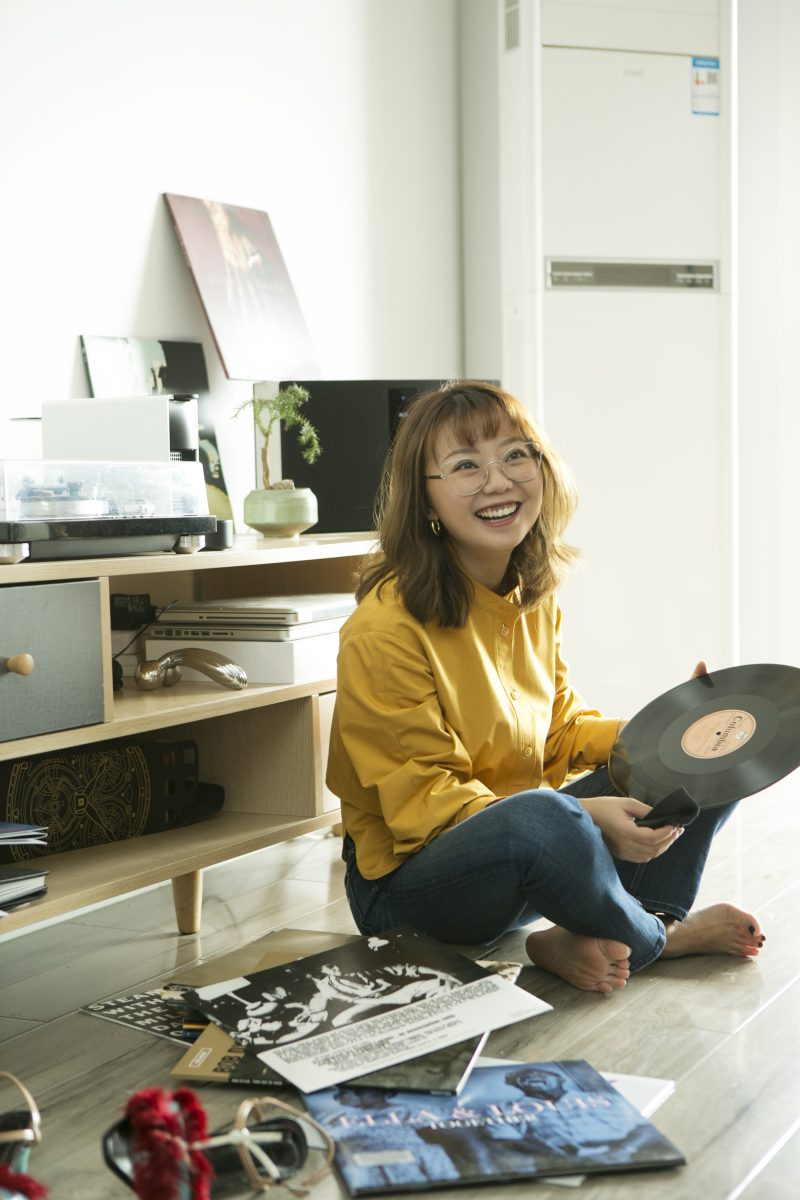 Tingting Mi with her favourite record