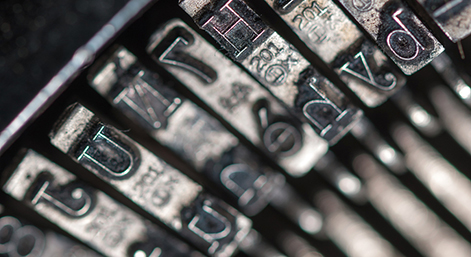 Vintage typing