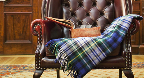 Traditional Chesterfield armchair