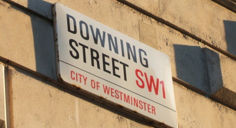The Road Sign for Downing Street.