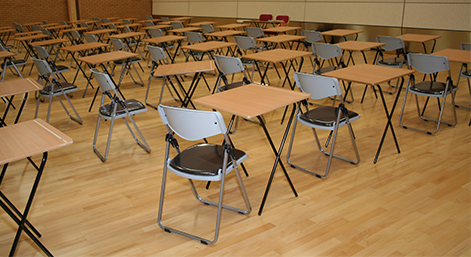 empty exam hall correct size