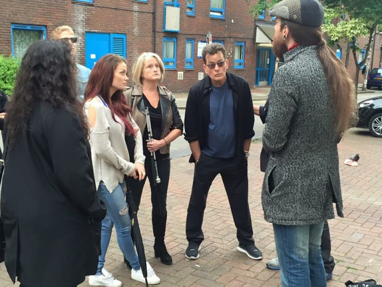 Celeb Charlie Sheen and Jess Impiazzi at the JTR tour