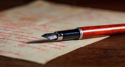 red-handwritten-letter