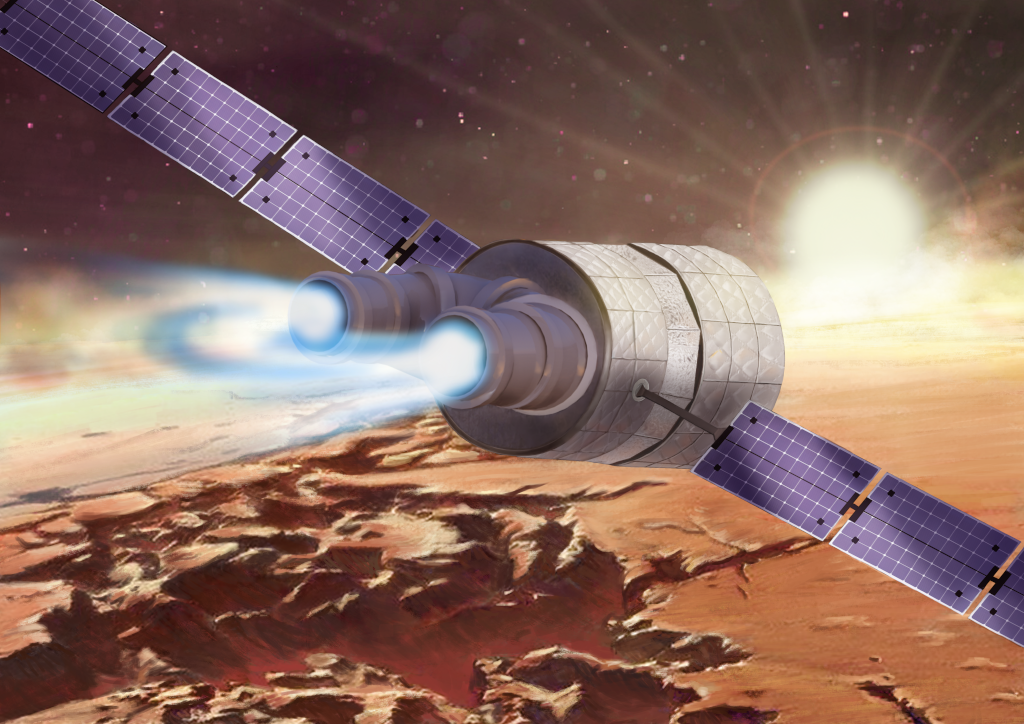 Magnetic Arch thruster (artist impression)