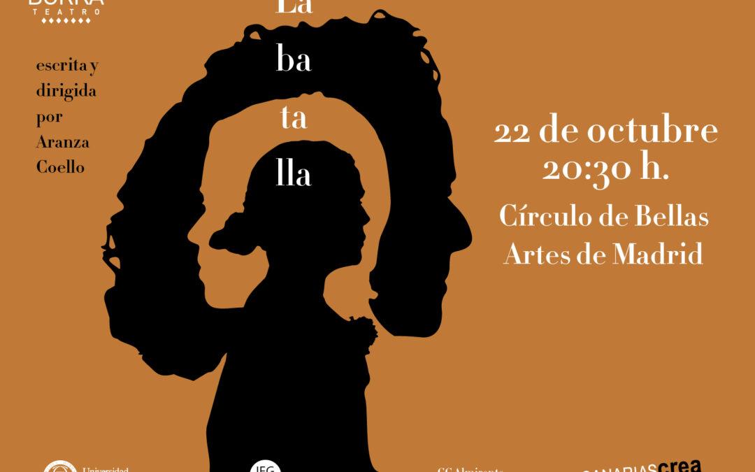 Aranza Coello presenta «La Batalla» en el CBA