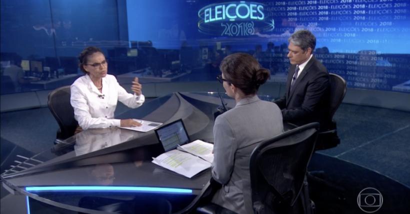 Resultado de imagem para Bonner e Renata Vasconcelos entrevistam presidenciáveis no JN Marina Silva