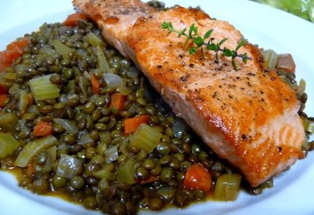 salmonlentils