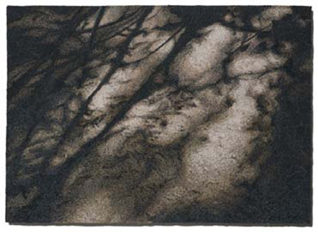 """Shadows"" - machine embroidery by Malin Lager, 2004"