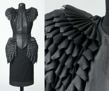 """Broken Shadow"" - raw silk & leather dress by Helena Hörstedt, 2008"