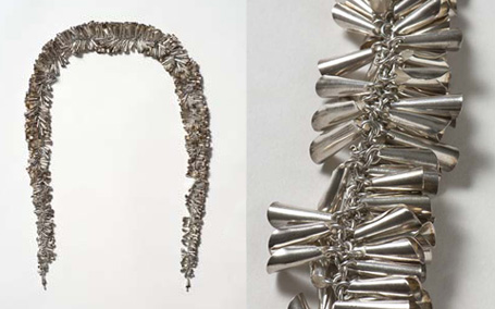 """Boa"" - silver necklace by Petra Schou, 2000"