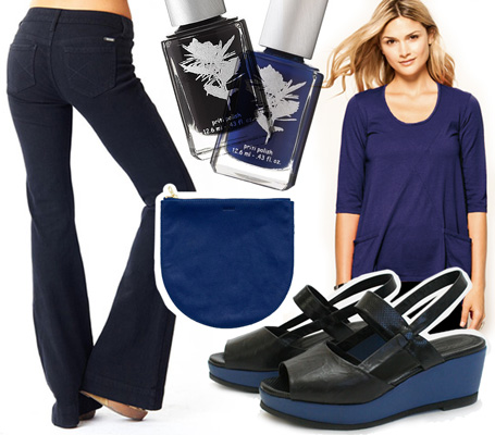 On Trend: 5 Black and Blue Styles for Spring