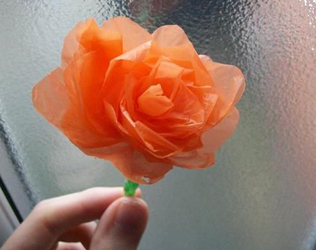 DIY plastic flowers