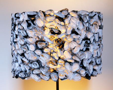 DIY plastic bag Ruffled Lamp Shade
