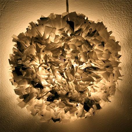DIY plastic pendant light