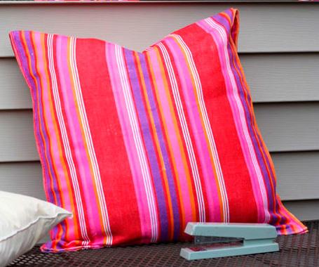 DIY outdoor pillow case