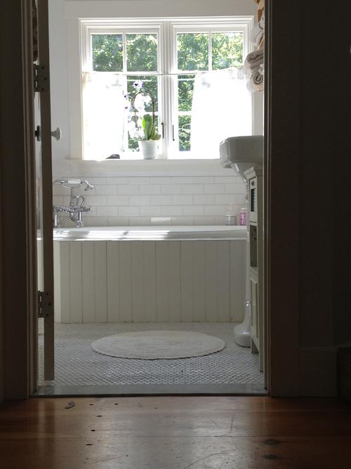 Cottage bathroom.