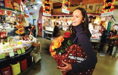 Shopping produce stalls