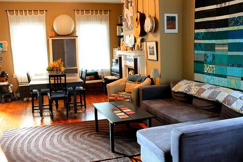 Contemporary rustic living room.