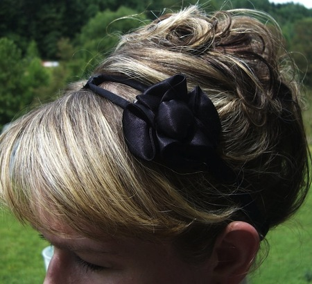 upcycled bra strap headband