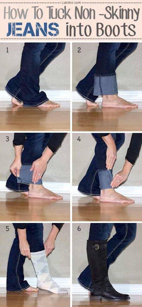 Turn jeans into skinny jeans