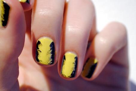 undone manicure nail art