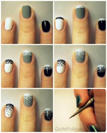 stippling diy nail art