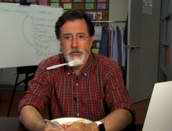 Steven Colbert and his Colbeard are ready to take on late night.