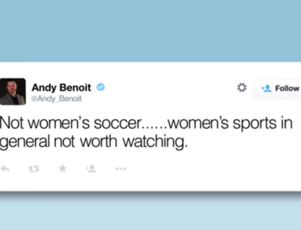 Amy Poehler and Seth Myers have some awesome thoughts about women's sports.