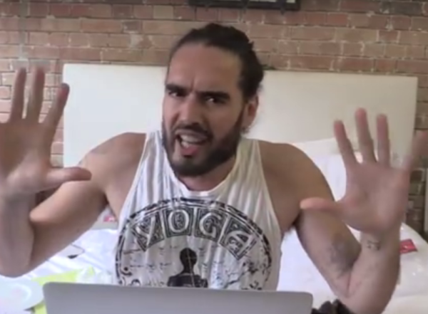 Russell Brand takes to a video to say goodbye for now.