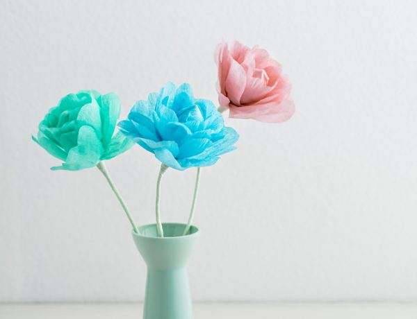 Make your own diy paper flowers.