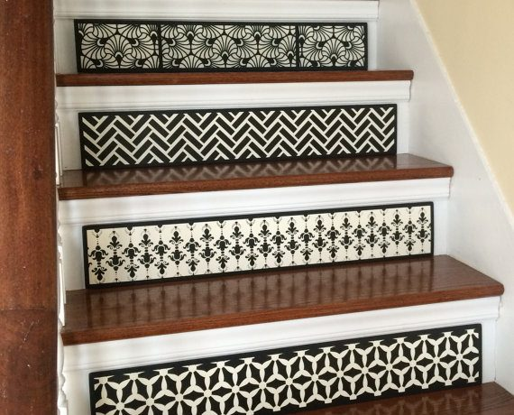 Easy staircase ideas for decorating your stairs.