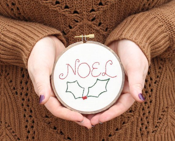 Make up these easy embroidery patterns & projects for the holidays.
