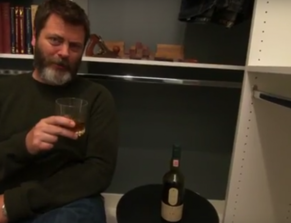 Nick Offerman is here to help you stay calm... and drunk... during the holidays.