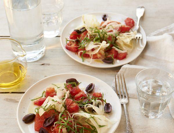 Blood Orange, Olive, and Basil Salad Recipe
