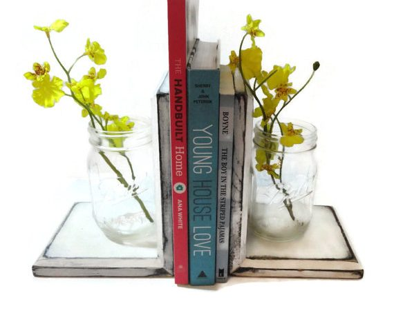 Bring form and function together with DIY bookends you make yourself.