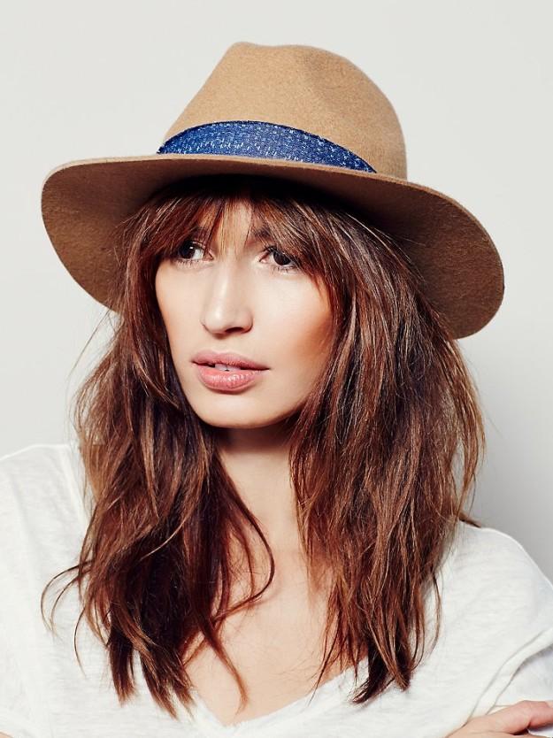 Spring denim looks, hat