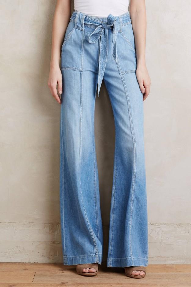 Spring denim looks, pants