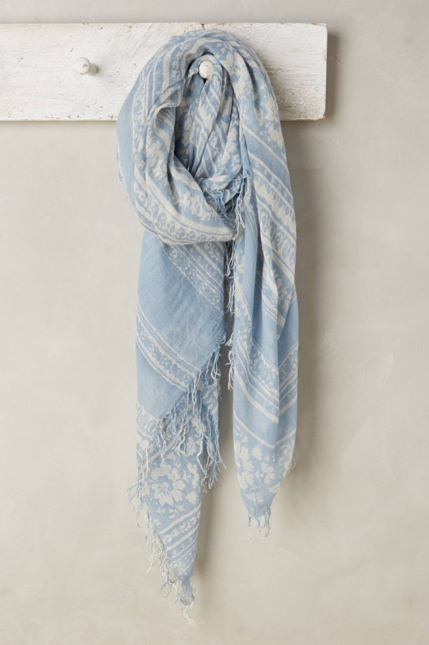 Spring denim looks, scarf