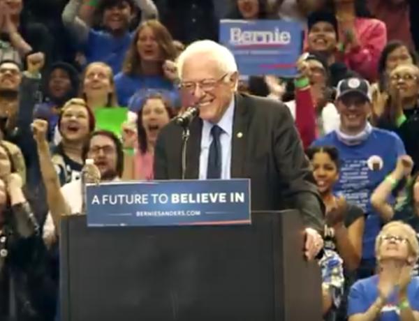 Bernie Sanders and his little bird.