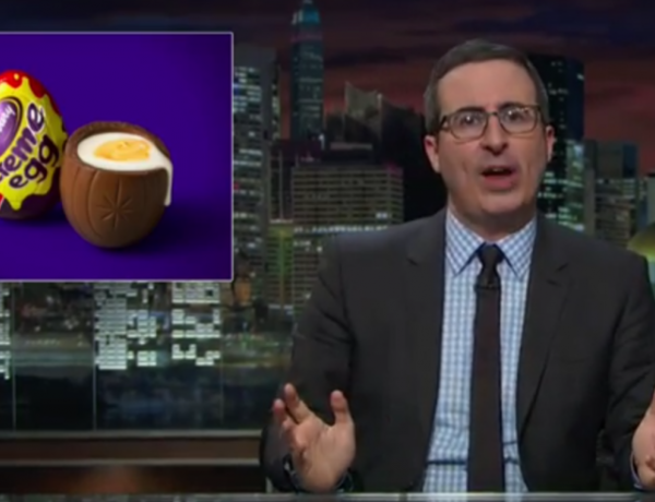 John Oliver has a bone to pick with these eggs.