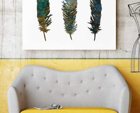 Get crafy with faux feathers.
