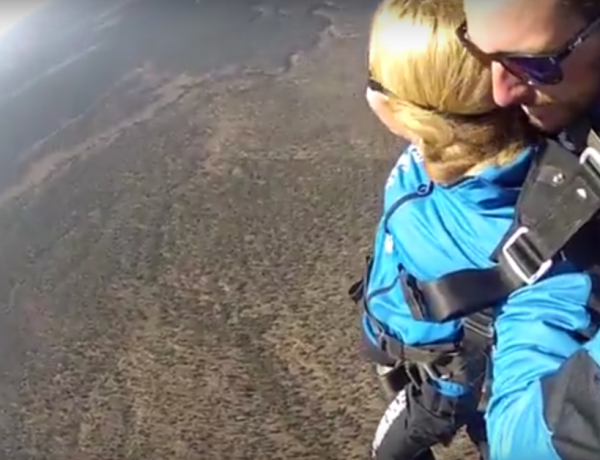The Grand Canyon is beautiful from every angle -- especially from a skydiving perspective.