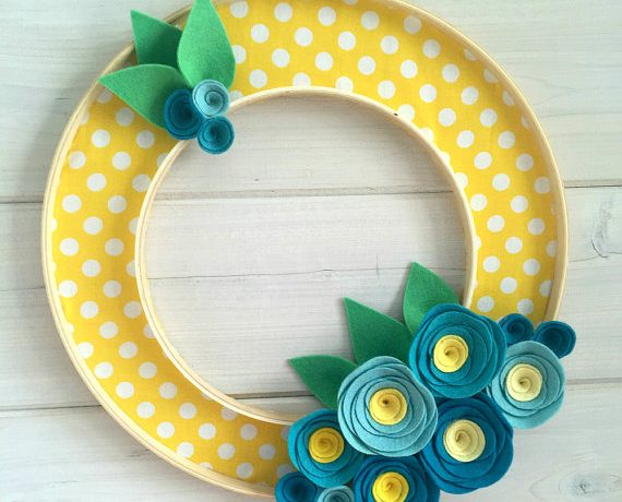Ideas for repurposing embroidery hoops.