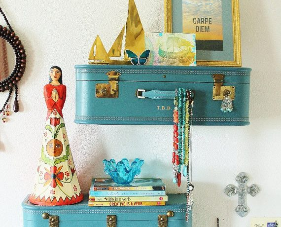 Turn vintgae goods into repurposed vintage home decor.